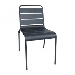 Bolero stalen stoel grijs - 4 stuks