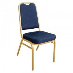 Bolero banketstoel met vierkante rugleuning blauw (4 stuks)