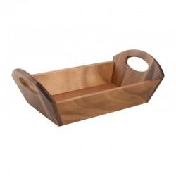 T&G Woodware houten broodschaal met handvatten acacia