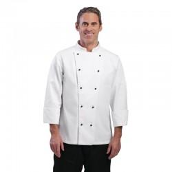 Whites Chicago unisex koksbuis lange mouw wit XL