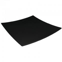 Kristallon vierkant bord met gebogen rand zwart 31x31cm