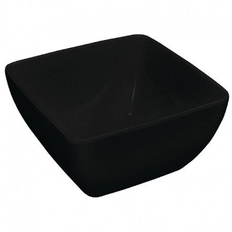Kristallon vierkante kom met gebogen rand zwart 27x27cm