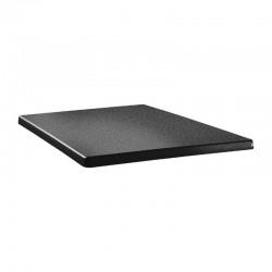 Topalit Classic Line vierkant tafelblad antraciet 60cm