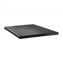 Topalit Classic Line vierkant tafelblad antraciet 80cm