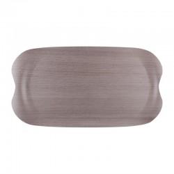 Roltex Wave dienblad grijs houtnerf 43x23cm