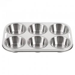 Vogue diepe RVS bakvorm 6 muffins
