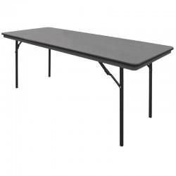 Bolero ABS rechthoekige inklapbare tafel 1,83m