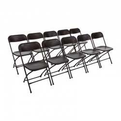 Bolero opklapbare stoel zwart (10 stuks)