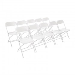 Bolero opklapbare stoel wit (10 stuks)