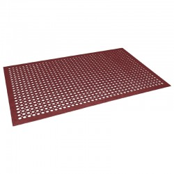 Jantex rubberen anti-vermoeidheidsmat rood