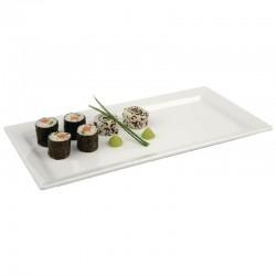 Pure rechthoekige melamine schaal wit 35,5x18cm