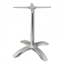 Bolero tafelonderstel met 4 poten geborsteld aluminium