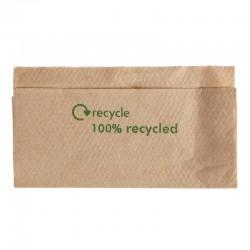 Gerecyclede servetten van kraftpapier 1-laags