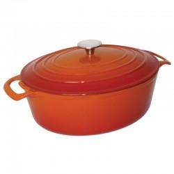Vogue ovale braadpan 6ltr oranje