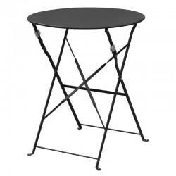 Bolero ronde stalen opklapbare tafel zwart 59,5cm