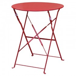 Bolero ronde stalen opklapbare tafel rood 59,5cm