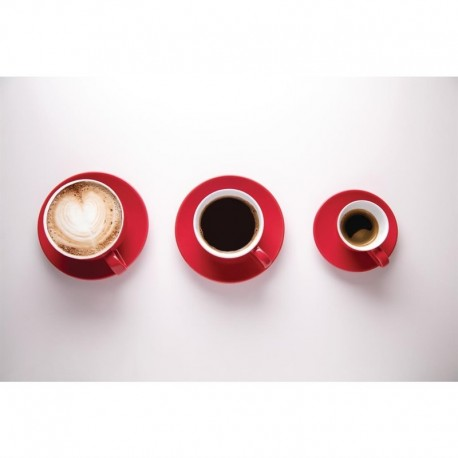 Olympia cappuccino kop rood 34cl