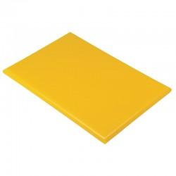 Hygiplas HDPE snijplank geel 25mm