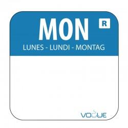 Vogue voedseletiketten maandag kleurcode blauw