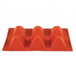 Pavoni Formaflex siliconen bakvorm 6 piramides