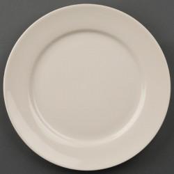 Olympia Ivory borden met brede rand 20cm
