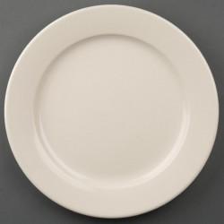 Olympia Ivory borden met brede rand 25cm