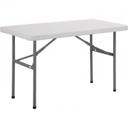 Bolero rechthoekige inklapbare tafel 1,22m
