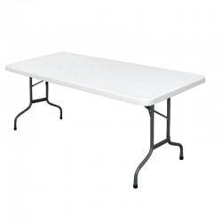 Bolero rechthoekige inklapbare tafel grijs 1,83m