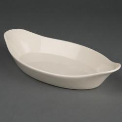 Olympia Ivory ovale gratin ovenschaaltjes met handvatten 13 x 23cm