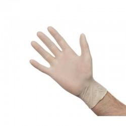 Latex handschoenen wit poedervrij L