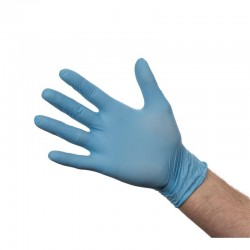 Nitril handschoenen blauw poedervrij XL