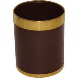 Bolero prullenbak bruin met gouden rand 10,2ltr