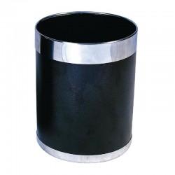 Bolero prullenbak zwart met zilveren rand 10,2ltr