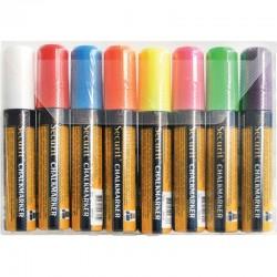 Securit uitwisbare krijtstiften 15mm 8 stuks assorti