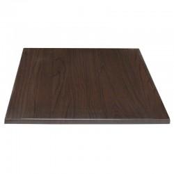 Bolero vierkant tafelblad donkerbruin 70cm