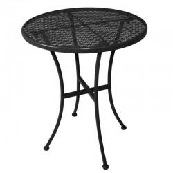 Bolero ronde stalen bistro tafel zwart 60cm