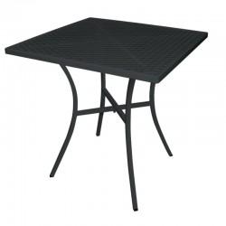 Bolero vierkante stalen bistro tafel zwart 70cm