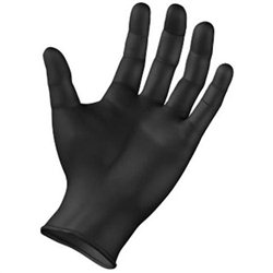 Qtop Q60 Zwarte nitril wegwerphandschoenen, ongepoederd (100 stuks) – Maten: XS t/m XXL
