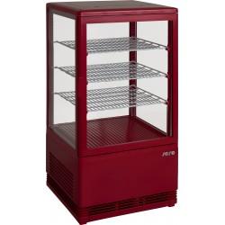 SARO Mini-koelvitrine 70 liter met verlichtingmodel SC 70 rood