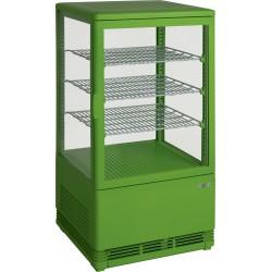 SARO Mini-koelvitrine 70 liter met verlichting model SC 70 groen