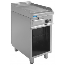 SARO Gas grillplaat met open kast model E7 / KTG1BAR