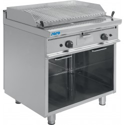 SARO Gas lava steengrill met open kast model E7 / BS2BA