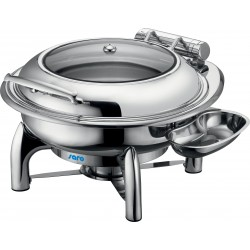 SARO Inductie Chafing Dish met zelfsluiting deksel, Rond model JESSIE