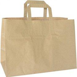 Duni papieren draagtas 35 x 17 x 24,5 cm bruin (200 stuks)