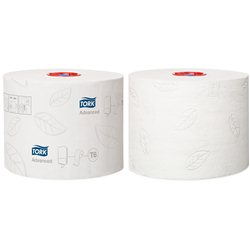 Tork advanced toiletpapier compact 2-laags wit 100 m x 10 cm (ds a 27 rol)
