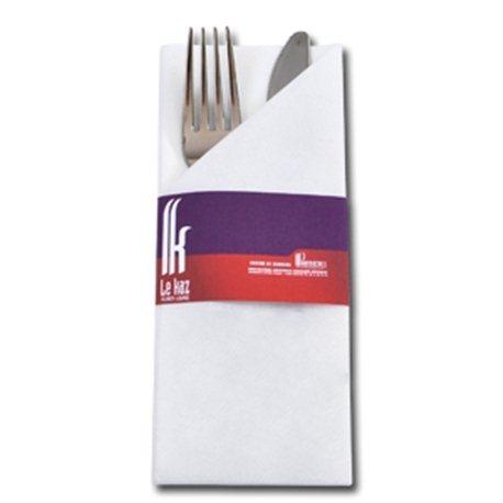 GastroSleeve + 40x40 cm airlaid servet, 50 grs White