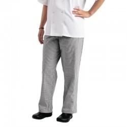 Whites Easyfit Teflon unisex koksbroek met kleine ruit zwart-wit XL