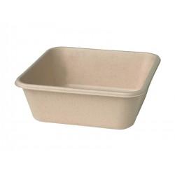 Duni Bagasse Box 155x155x53 900cc Bruin (320 stuks)
