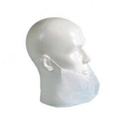 Baardmasker met oorelastiek, non-woven, wit 20 x 100 st