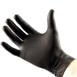 Zwarte nitril wegwerphandschoenen, ongepoederd (100 stuks) – Maat M